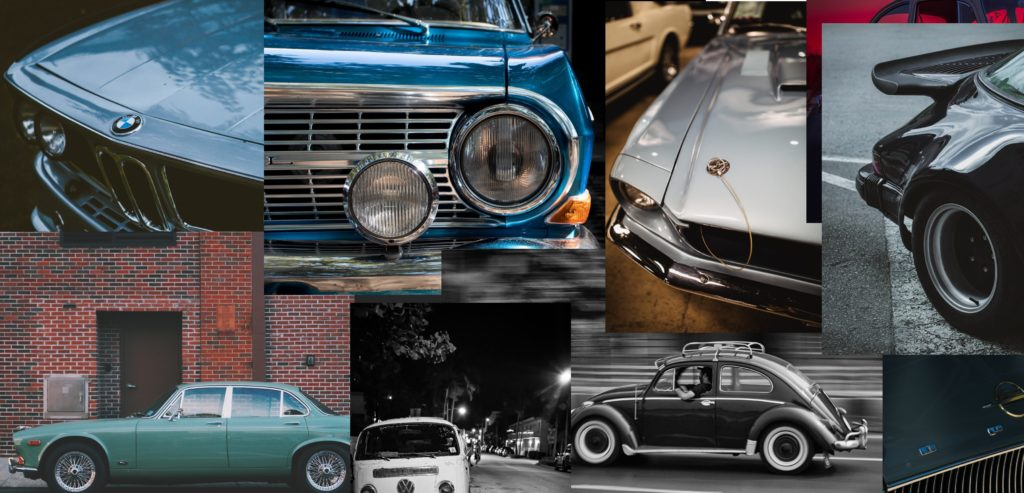 Werde Teil, BMW Plymouth Oldtimer Aston Martin Veteran Porsche Turbo Liebhaberfahrzeug Jaguar XJ6 VW Bus VW Käfer Youngtimer Opel