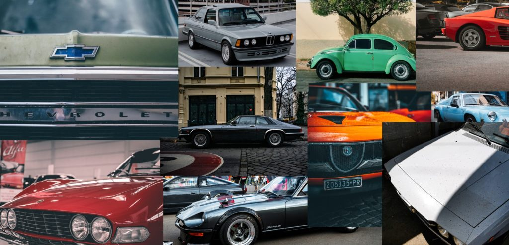 Wir lieben Vielfalt Oldtimer Chevrolet BMW VW-Käfer  Liebhaberfahrzeug Veteran Ferrari Testarossa Jaguar XJS Alfa Rome Montreal Lotus Europa Fiat Dino Datsun 240 Youngtimer Lamborghini Espada